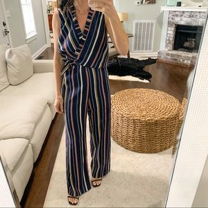 NWT Adelyn Rae Striped Jumpsuit